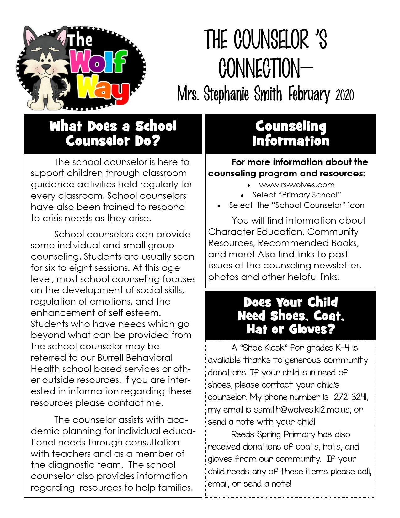 February Newsletter page 1