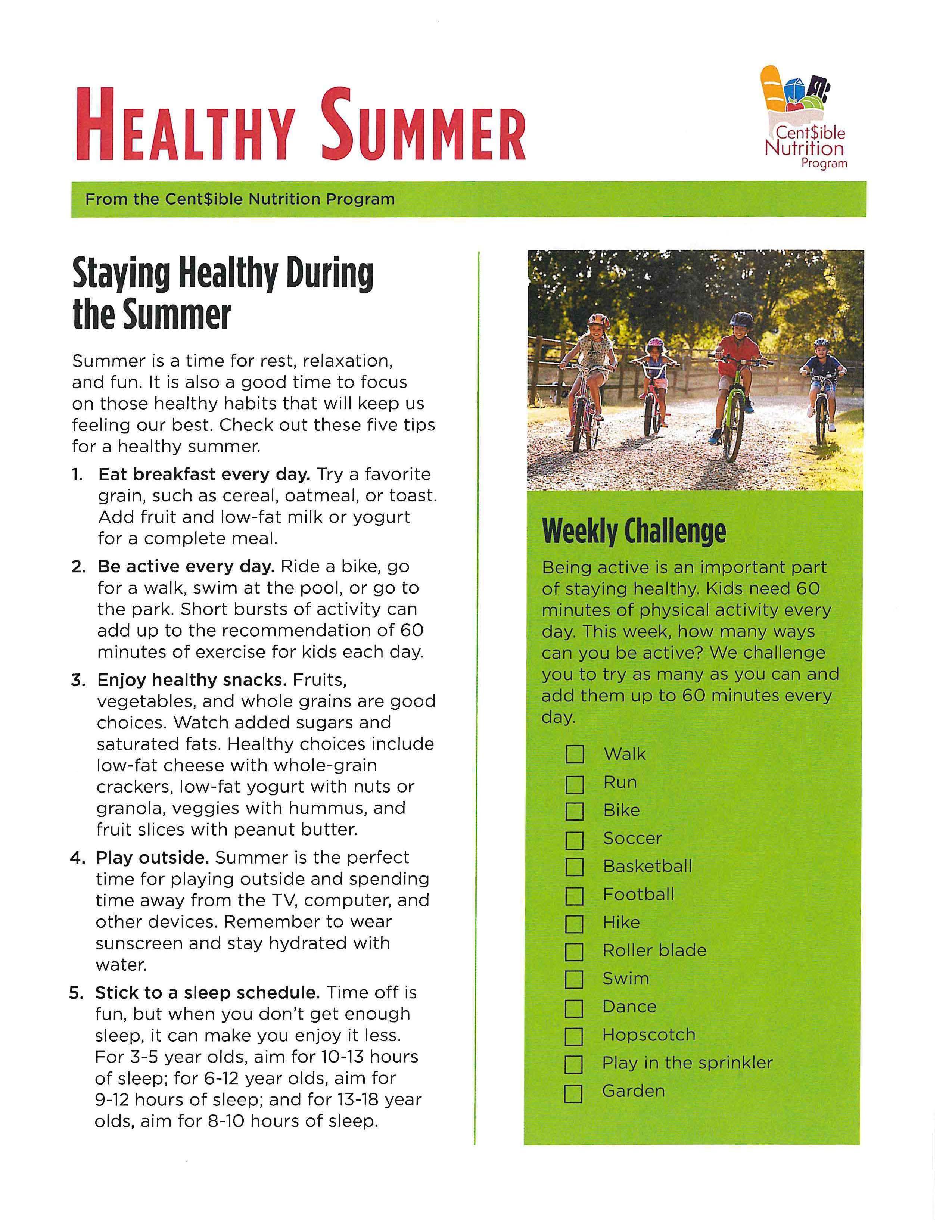 Healthy Summer flyer