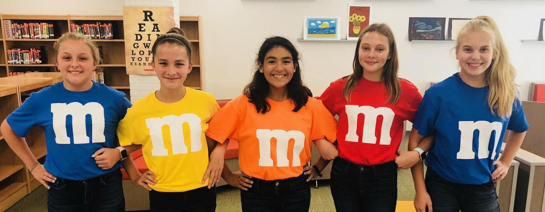 JH girls wearing M&M Tshirt