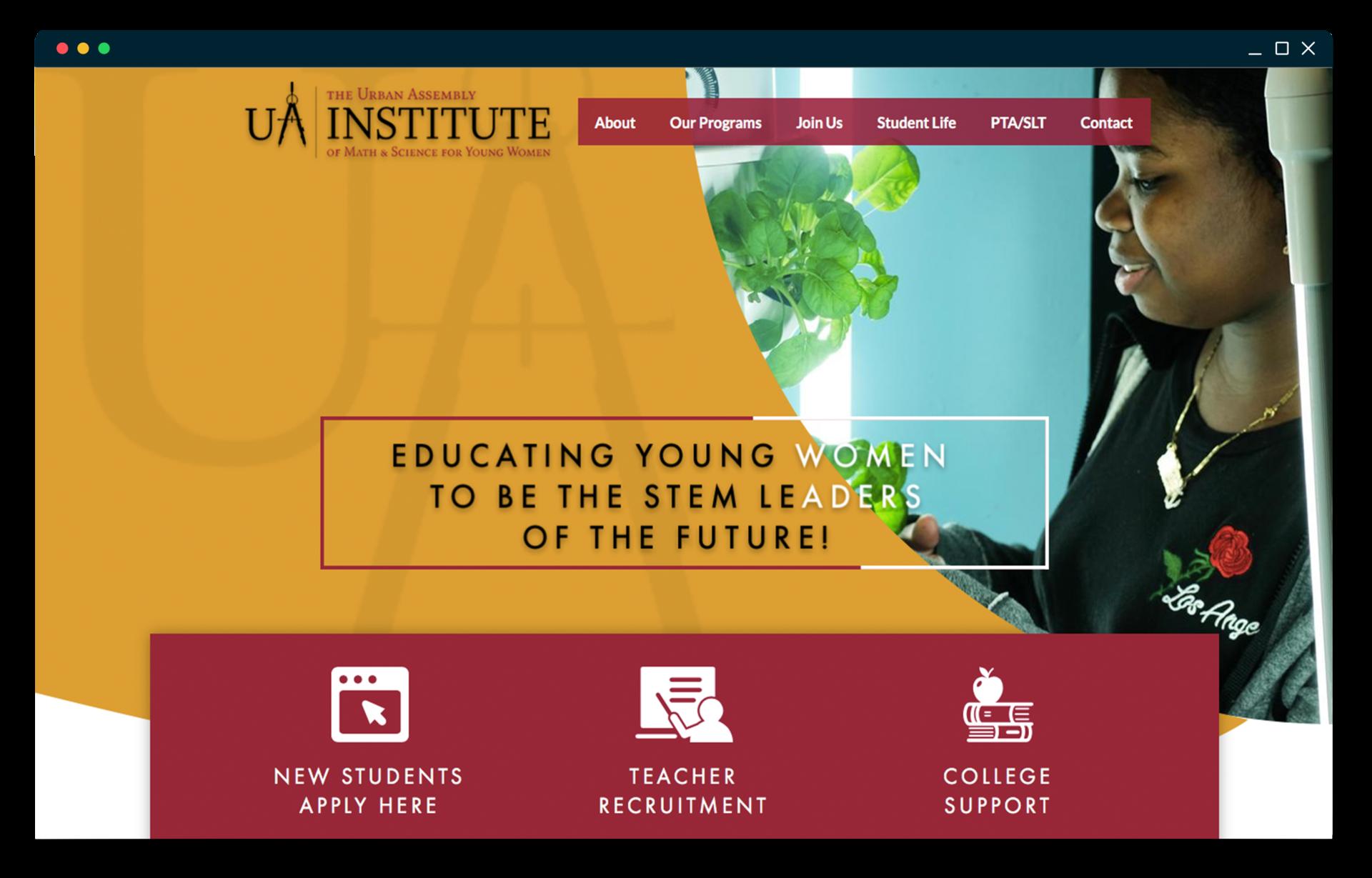 UAI homepage screenshot