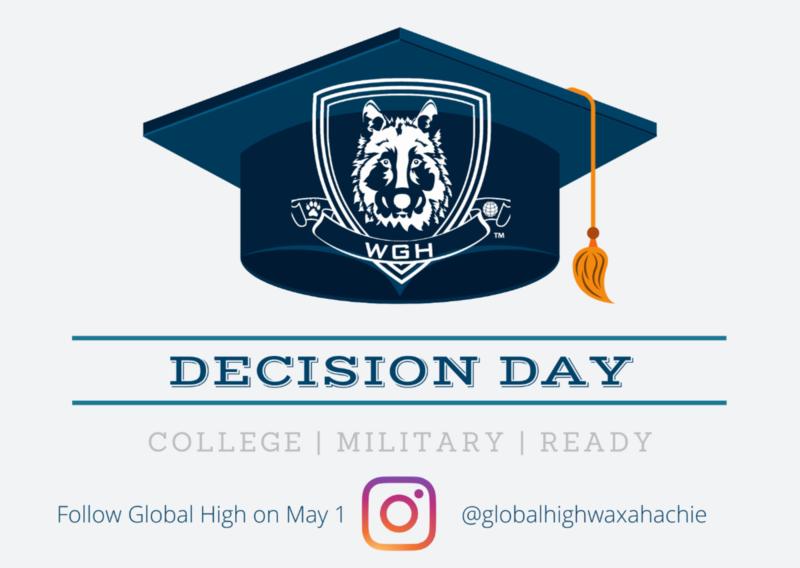 graduation cap with Global High School logo
