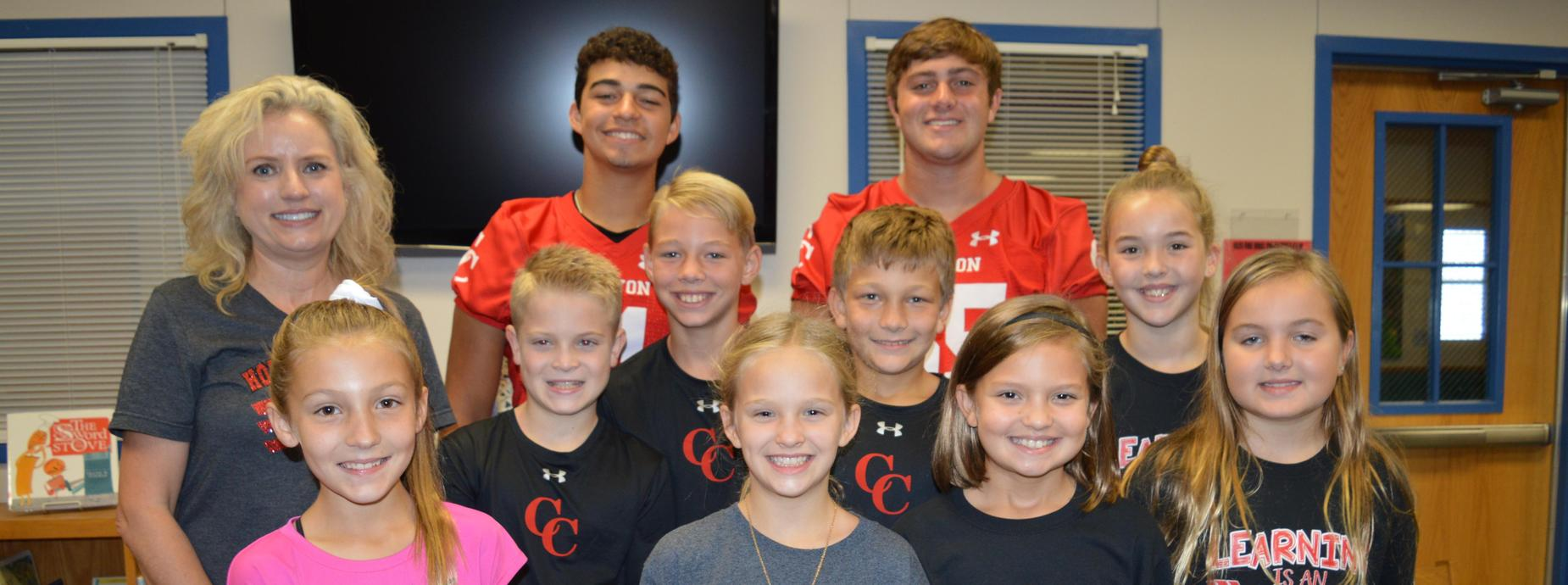 CHS FOOTBALL PLAYERS AT HLES