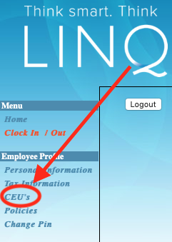 Image of the CEU Link on the Timekeeper Page