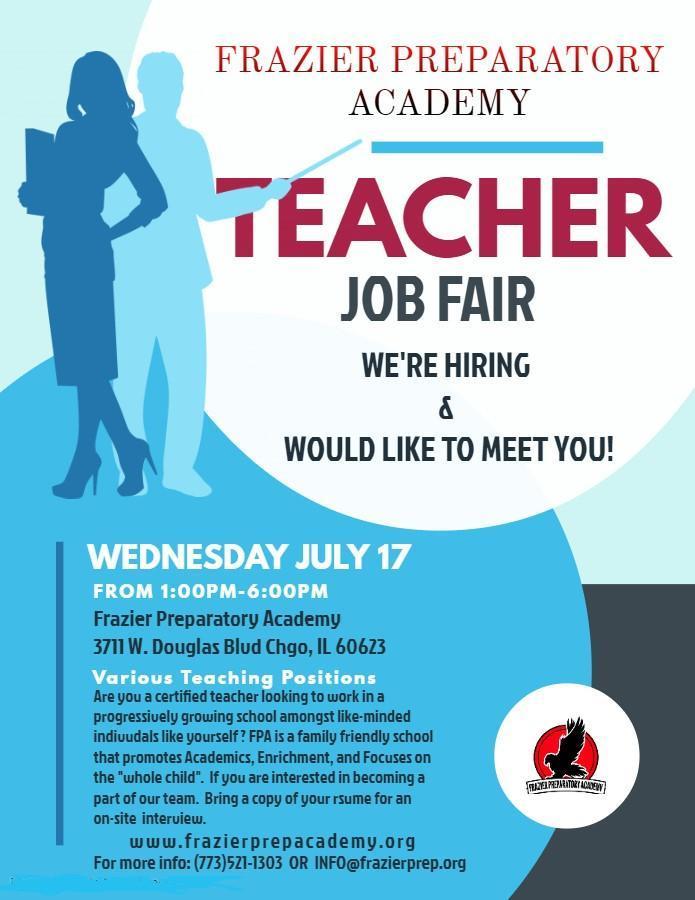 Teacher Job Fair-Wed. July 17