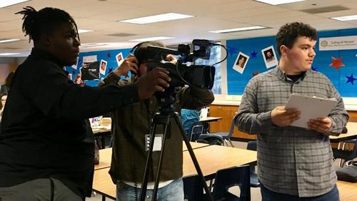 ROC video students interviewing teachers from West High School.