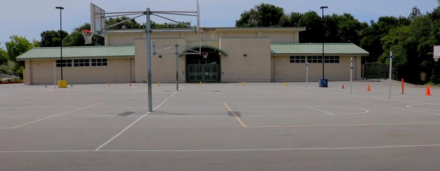 Gym and courts