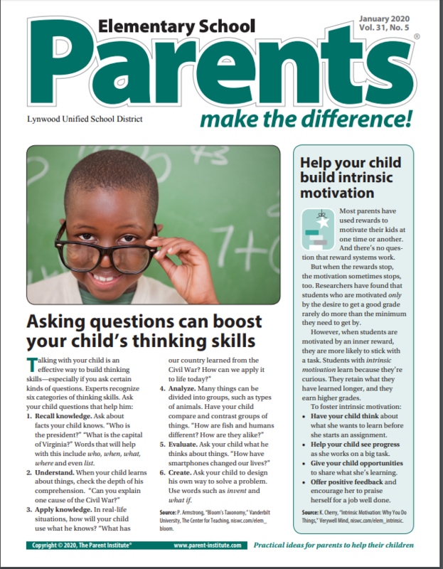 January Parent Newsletter Featured Photo