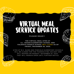 Virtual Meal Site Updates