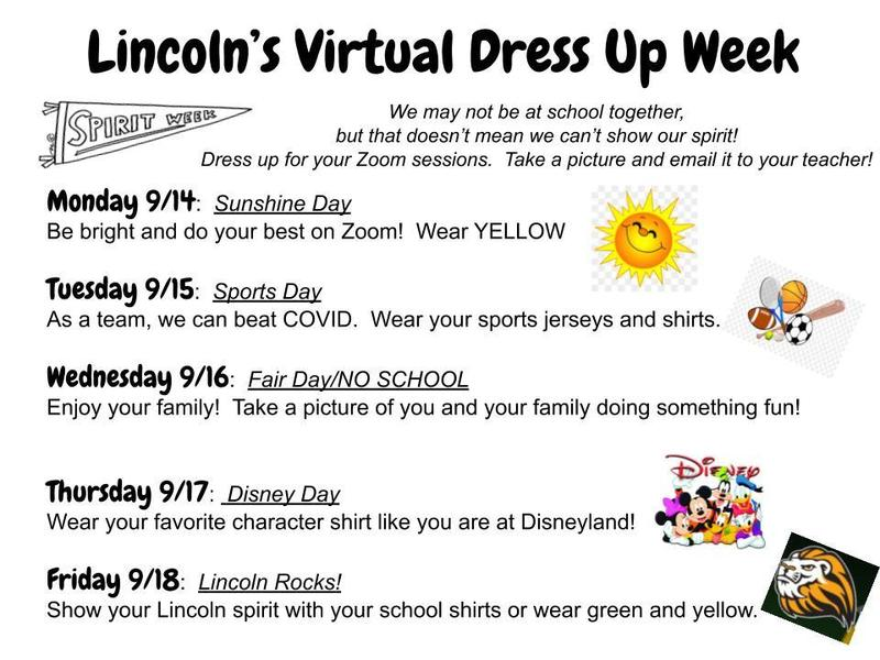 Virtual Dress Up Days