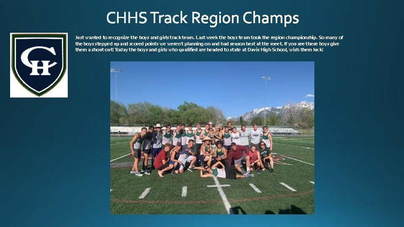 CHHS Boys Track Region Champs