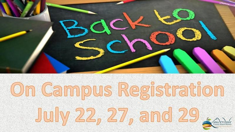 On Campus Registration Graphic