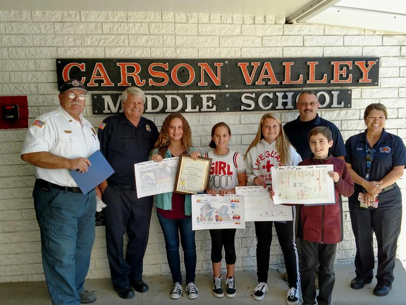 Winners of 2018 Fire Prevention Poster Contest