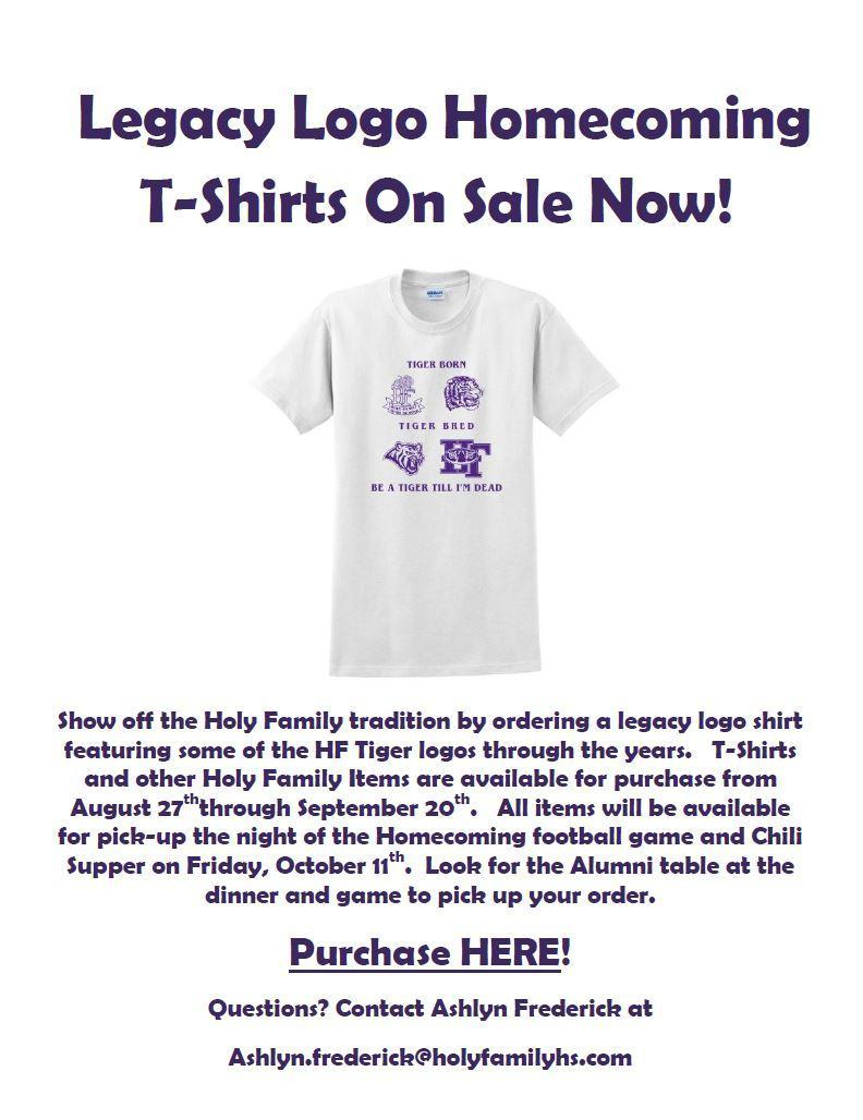Purchase your Homecoming t-shirt today!