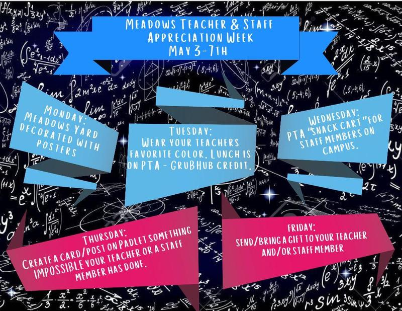 Teacher and Staff Appreciation Week Begins on Monday, 5/3. Thumbnail Image