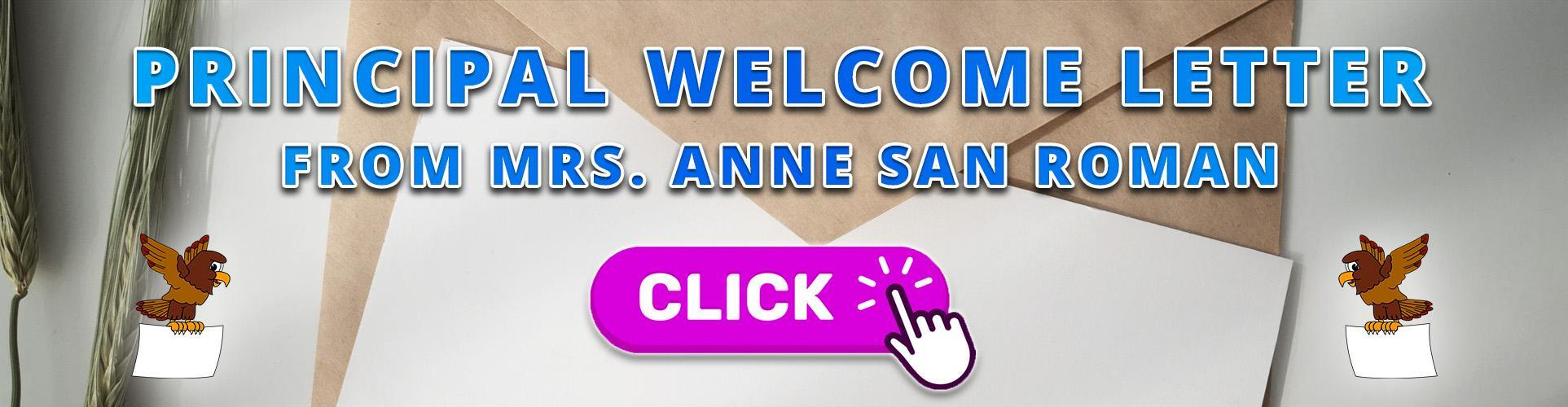 Principal Welcome Letter From Mrs. Anne San Roman