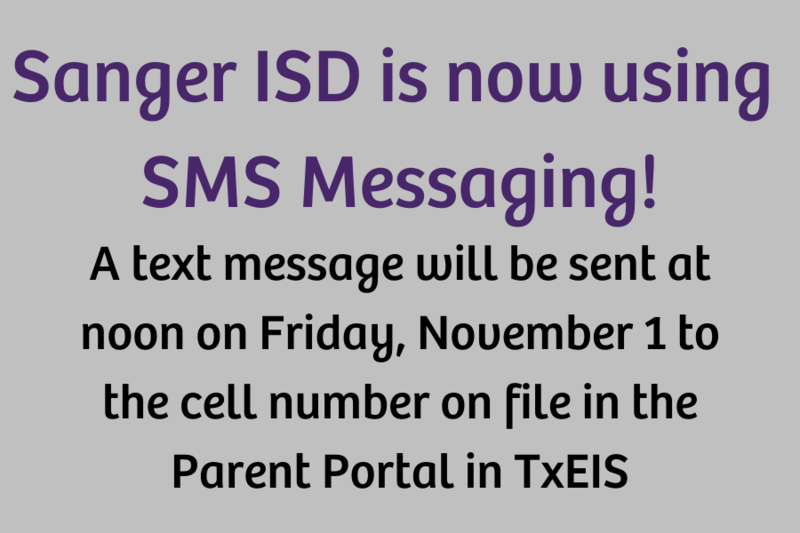 Sanger ISD is Now Using SMS Messaging