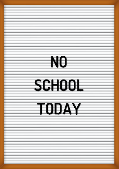 No School Today Letter board Image