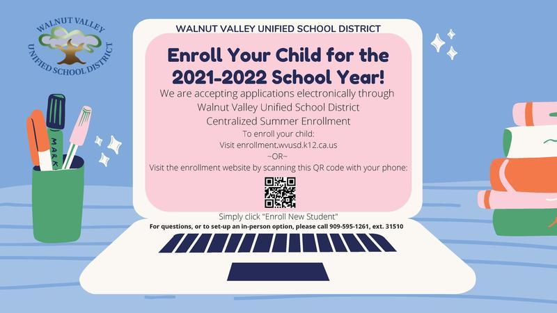 Electronic School Enrollment 2021 -2022 School Year Featured Photo