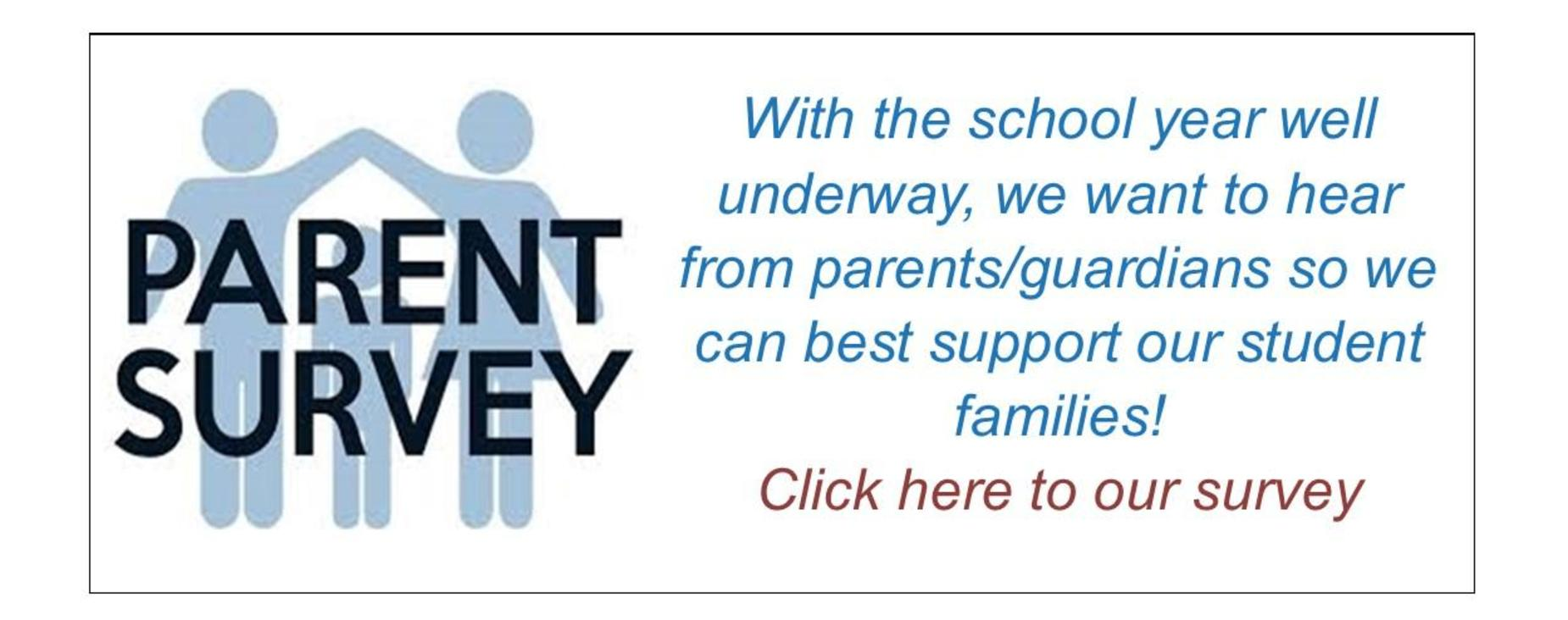 Parent Survey available with link