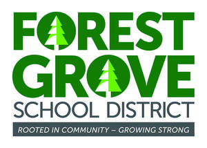 FGSD logo on white background with trees in the O's of Forest Grove