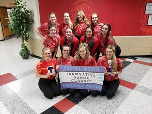 WHS Crimson Dancer win INNOVATIVE DANCE SOCIAL MEDIA Award - 2nd year in a row!