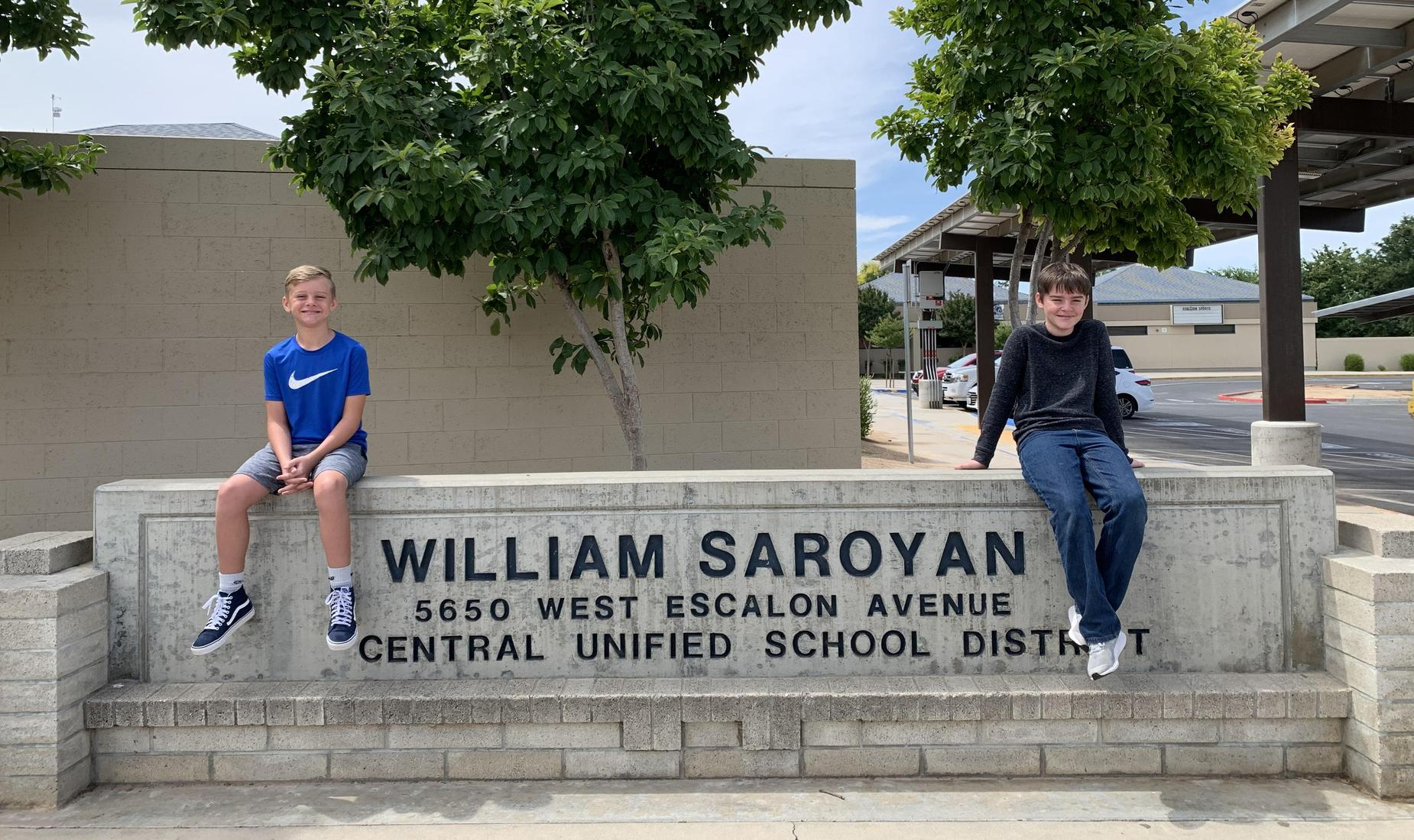 Two of Saroyan's proud students