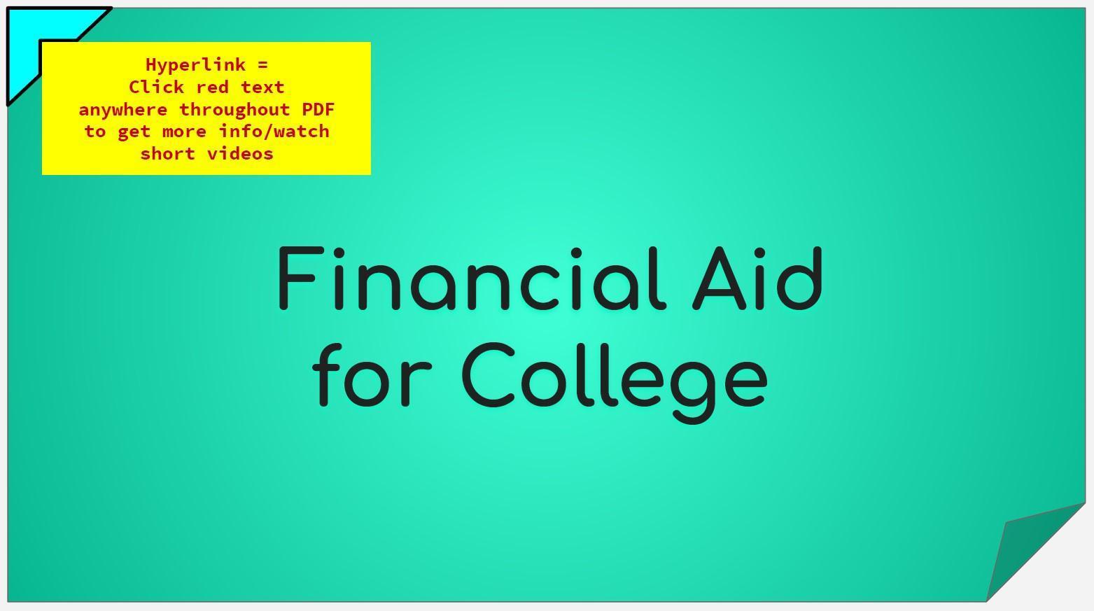 Financial Aid - Short Presentation