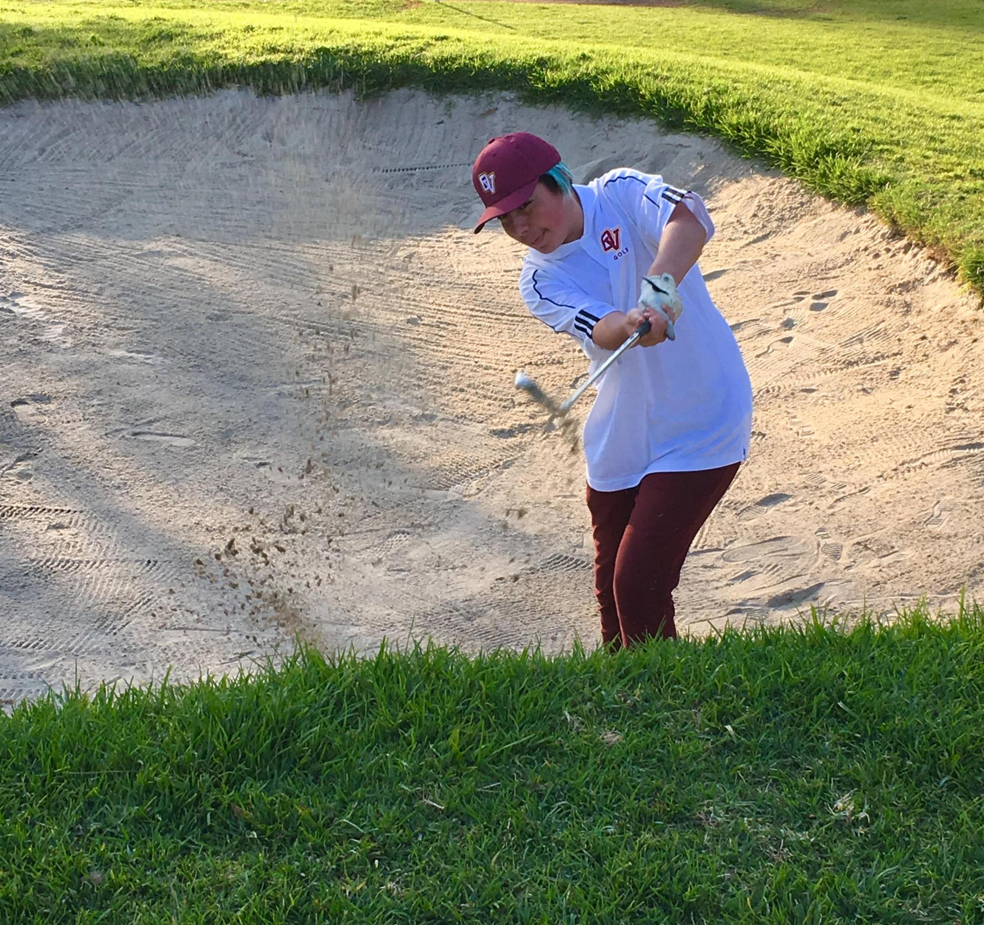 From the sand trap