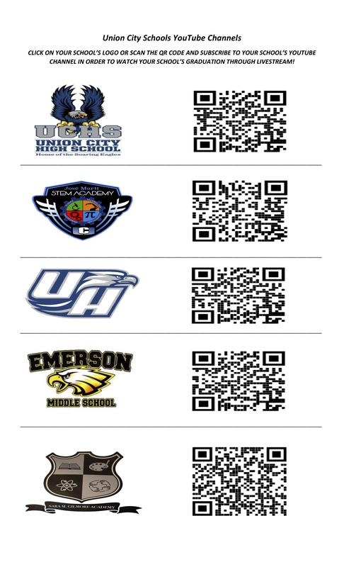 QR Codes for School YouTube channels