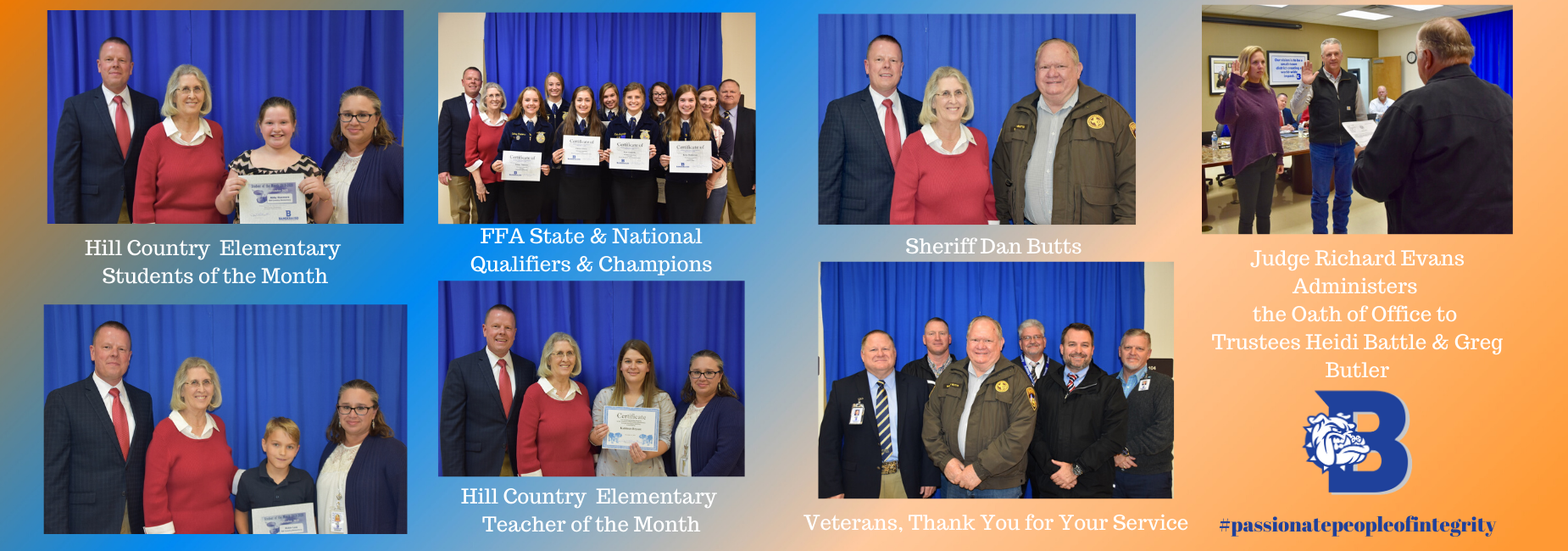November Board of Trustees Recognitions