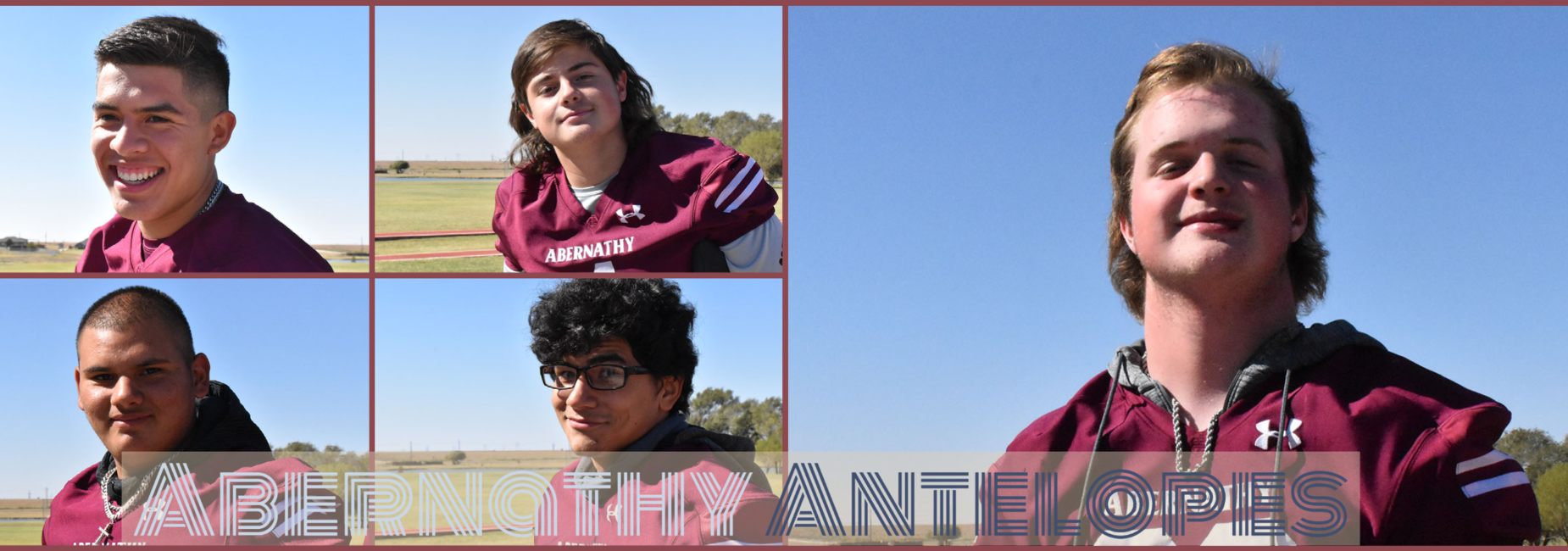 Collage of several football players posing for individual photos