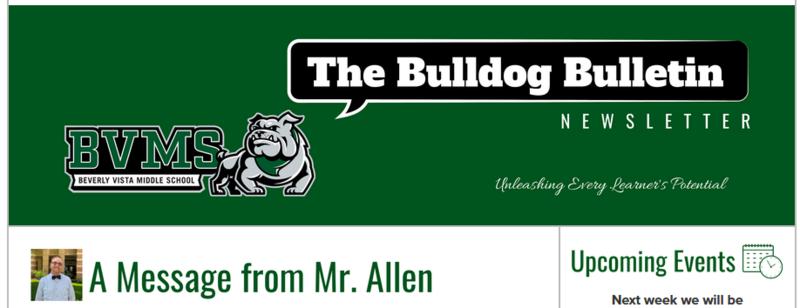 BVMS Newsletter - The Bulldog Bulletin - April 7, 2021 Featured Photo