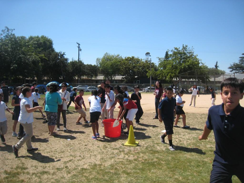 Fun and games during the PTA/ASB Community Building Picnic