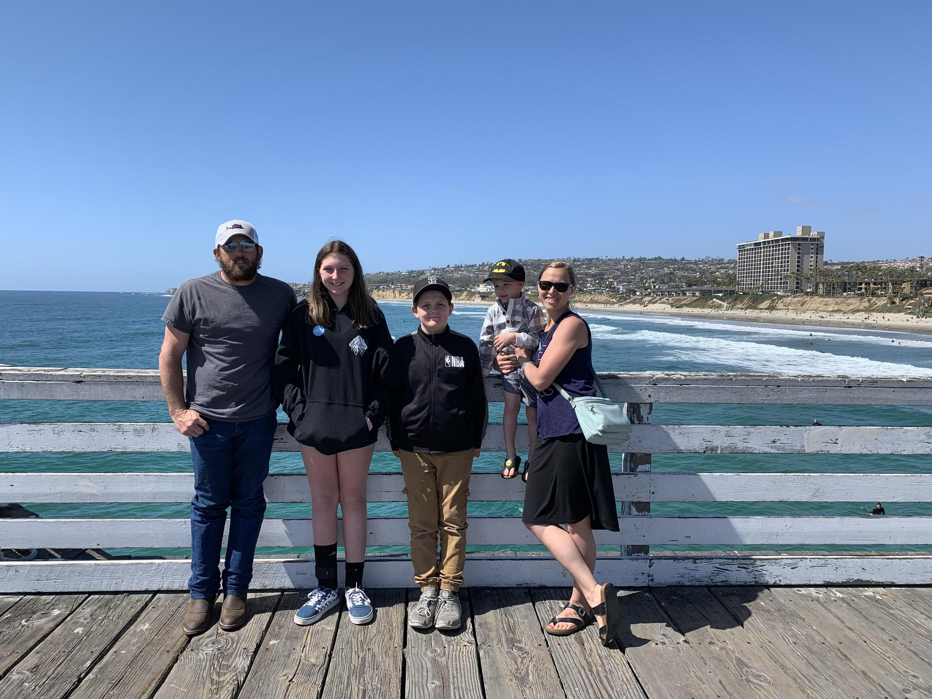 My family and I visiting San Diego in April 2019
