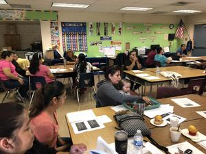 Philadelphia's ELAC meeting provides parents the support needed for reviewing reclassification criteria. #ALLmeansAll #proud2bepusd