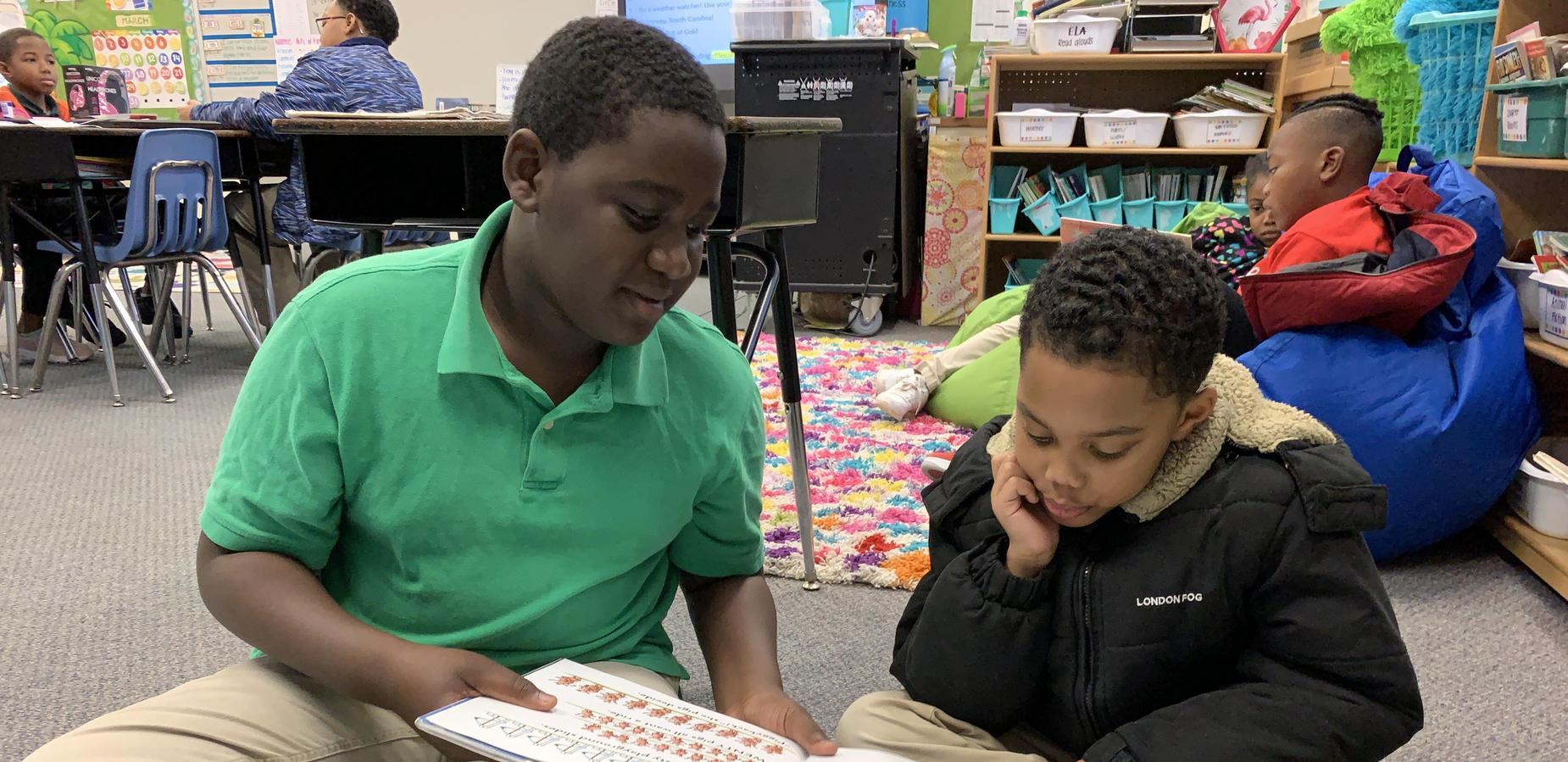 Beta Students reading