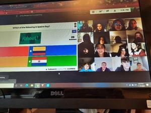 Photo of WHS Spanish Club virtual meeting.