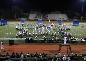 West Ranch High School's Marching Band & Color Guard performing at the SCSBOA Championships in Riverside