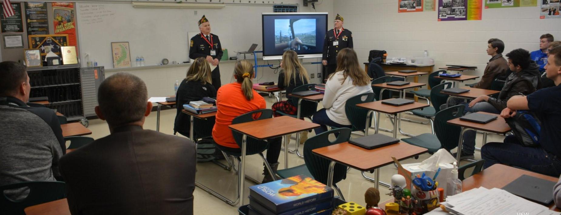 Vietnam Vets speaking to RUSH class