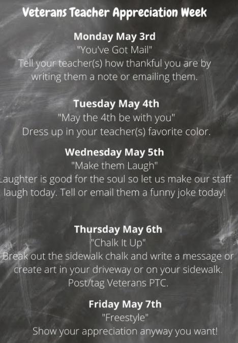 Staff Appreciation Week begins 5/3! Thumbnail Image