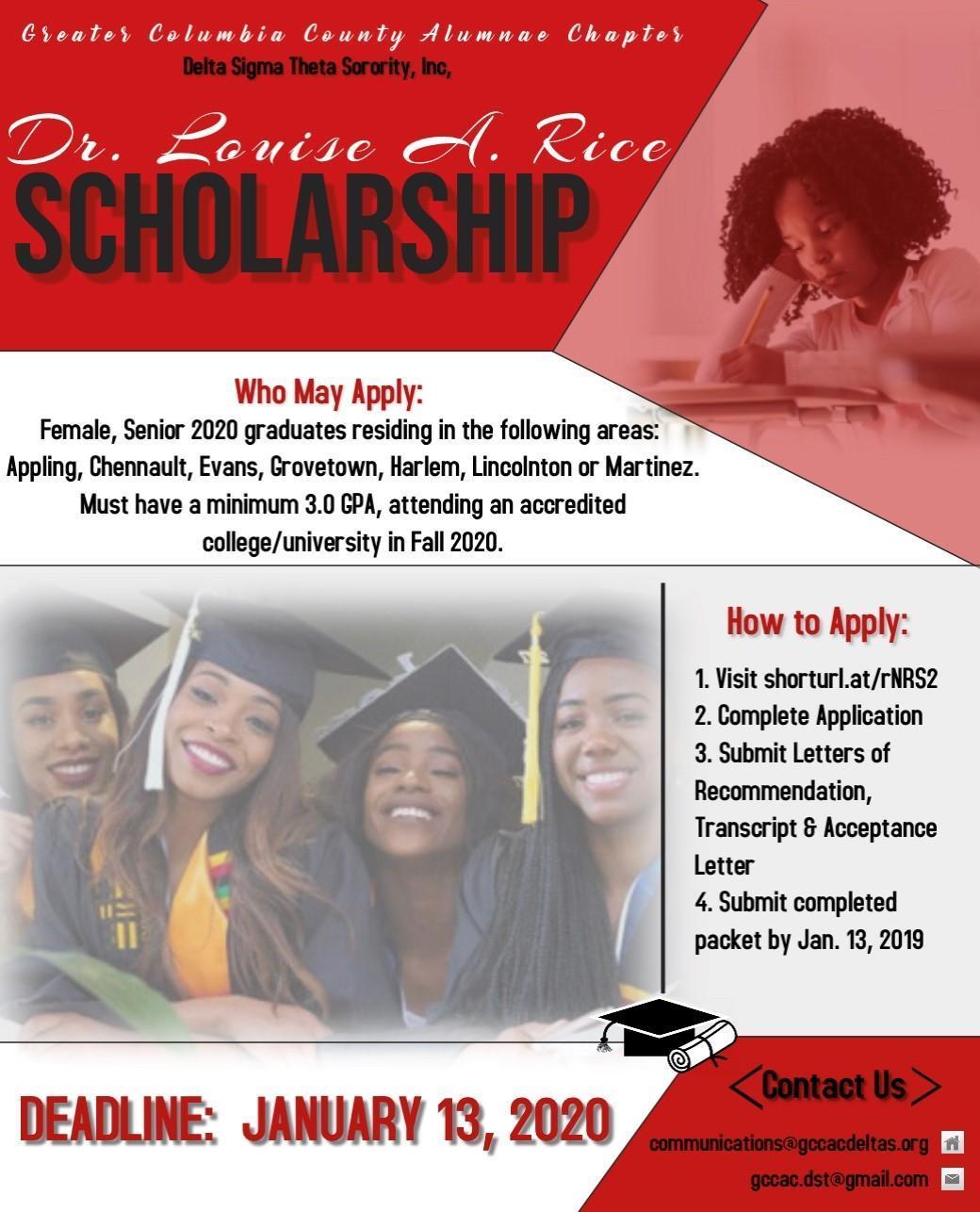 Delta Sigma Theta Scholarship