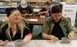 Ceramics and Construction are both hands-on classes. Students will be exploring 3D art through clay and building a tiny home for use by children at the Five Mile Prairie School.