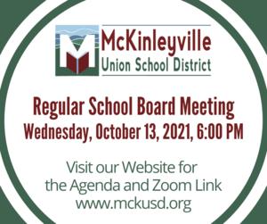 School Board Meeting Notice