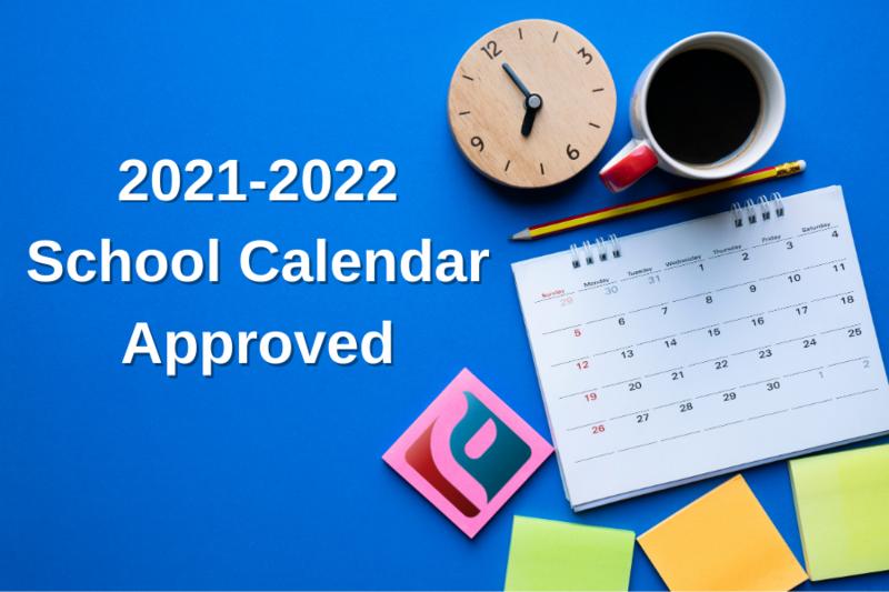 2021-2022 School Calendar! Featured Photo