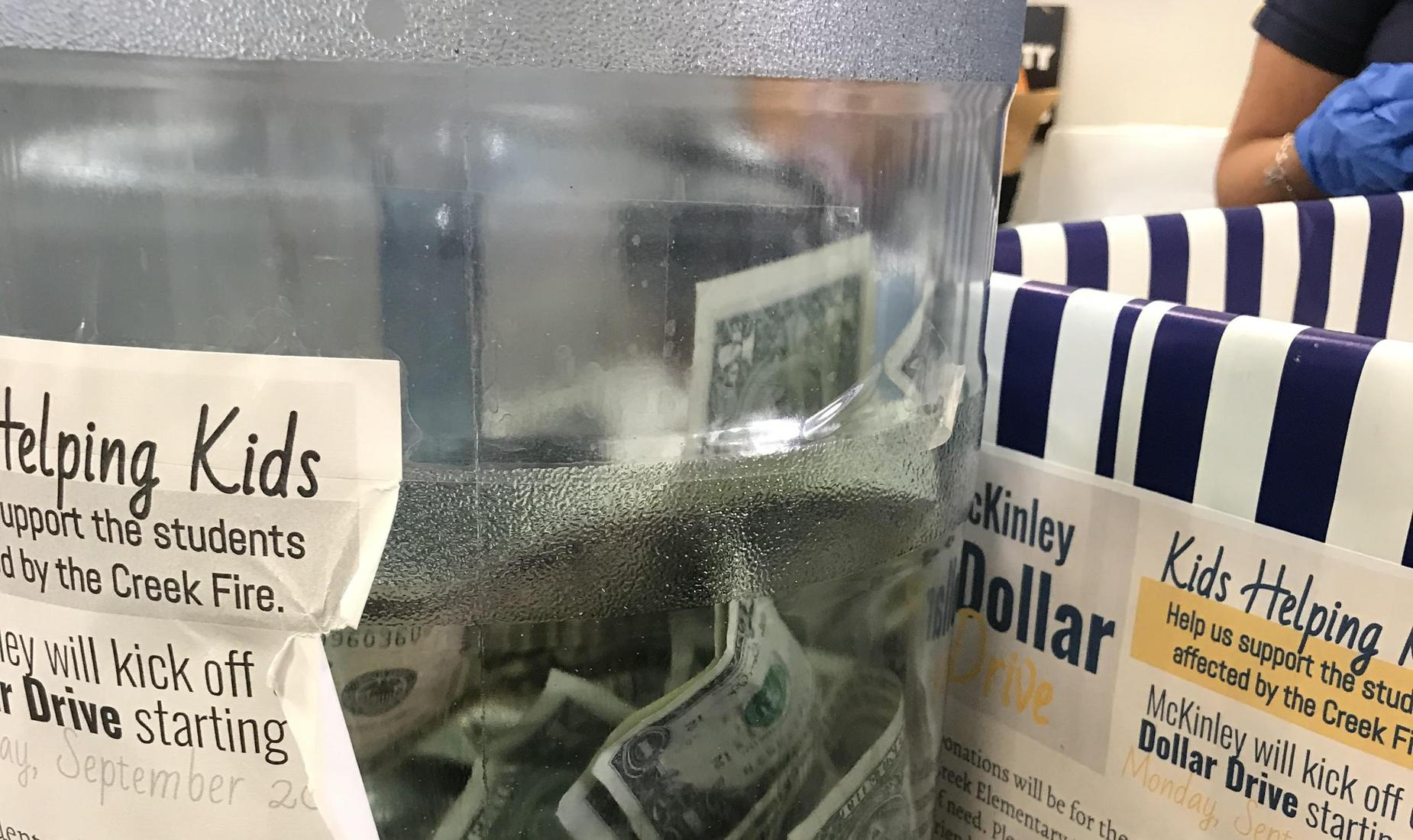 Money for Creek Fire Victims
