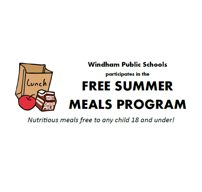 Free Summer Meals Program! Nutritious breakfasts and lunches free to any child 18 and under in numerous locations in Windham and Willimantic. Thumbnail Image