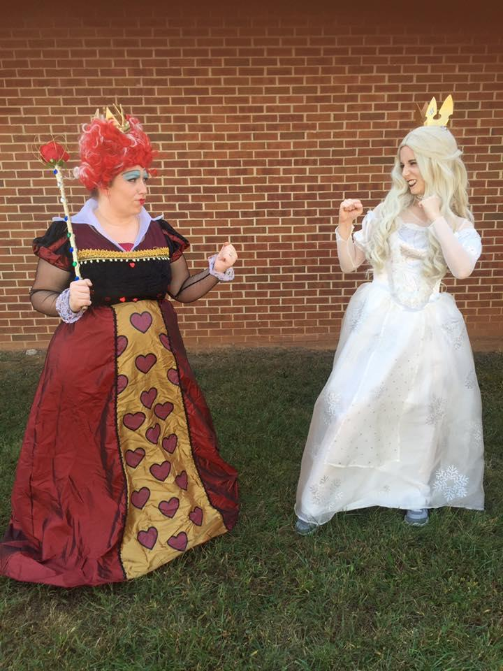 Ms. Day and I dressed up as queens!