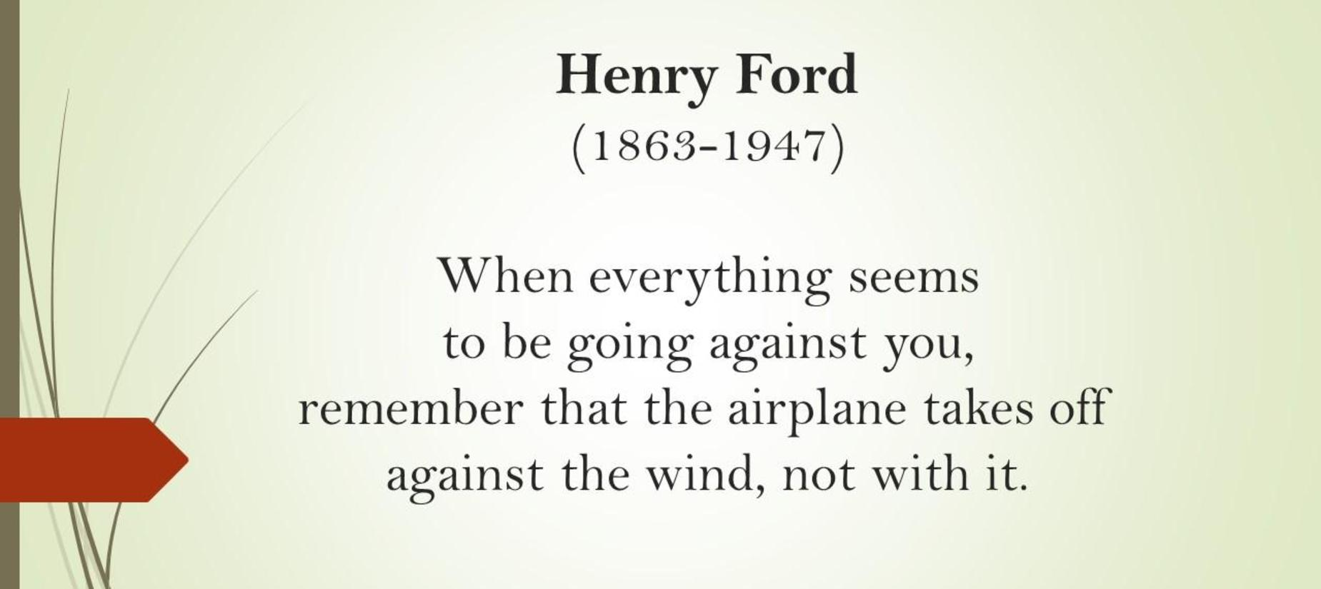 quote from Henry Ford with a grass design