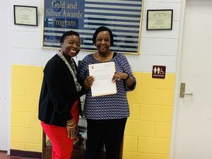 Ms.Washington and Dr. Bradley