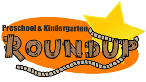 Pre-K and kindergarten roundup graphic